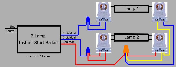Lamp Series To Lamp Parallel Ballast Lampholder Wiring Diagram on Basic Electrical Wiring Diagrams