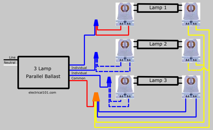 how to replace lamp series ballast parallel electrical  3 lamp series to parallel lampholder wiring diagram