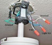 Ceiling fan switch wire makeup