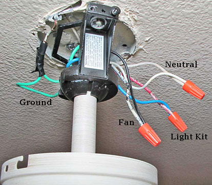 Ceiling fan switch wiring electrical 101 ceiling fan switch wiring diagrams 1 ceiling fan and lights outlet box cheapraybanclubmaster Choice Image