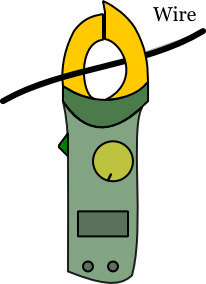 Clamp Meter with Wire
