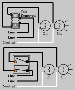 duplex switches electrical 101 Typical House Wiring Diagram