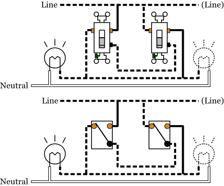 alternate 3 way switches electrical 101 alternate 3 way switch wiring diagram 1