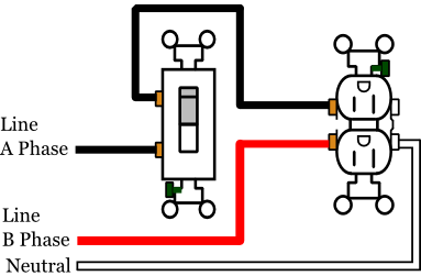 Diagram Of An Outlet also Wiring Two Switches One Light Electric also How Do I Install A Gfci Receptacle With Two Hot Wires And  mon Neutral as well Wiring Diagram For Bedroom Outlets moreover 3way Switch Wiring Using Nm Cable. on wiring diagram for multiple switched outlets